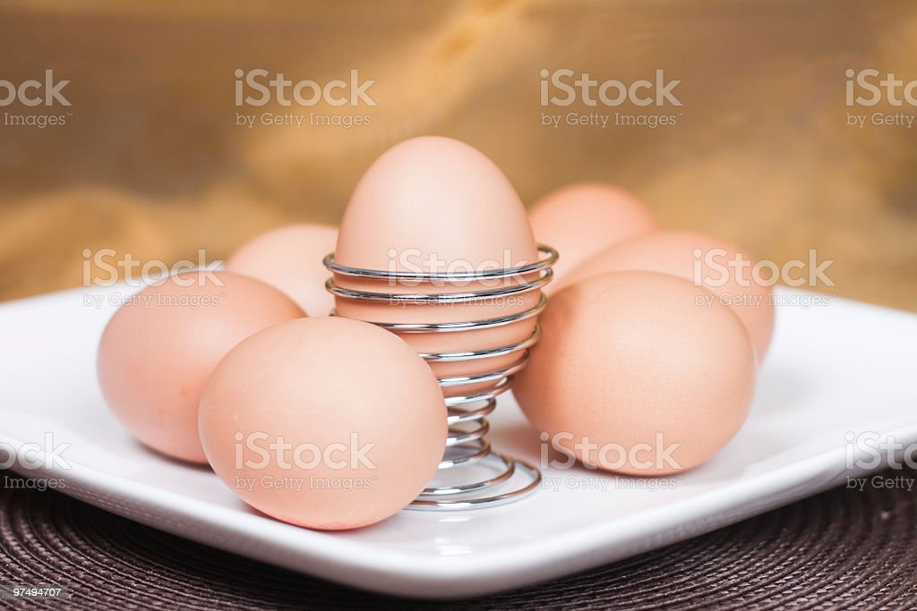 Horizontal Eggs royalty-free stock photo