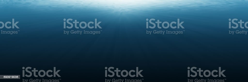 horizontal empty underwater for background and design stock photo