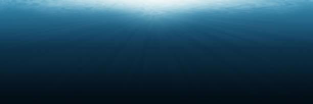vacío horizontal bajo el agua para el fondo y diseño - submarino fotografías e imágenes de stock