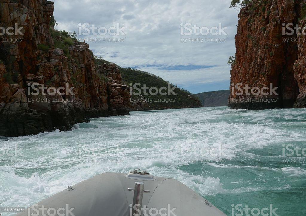 Horizontal falls, Kimberley region stock photo