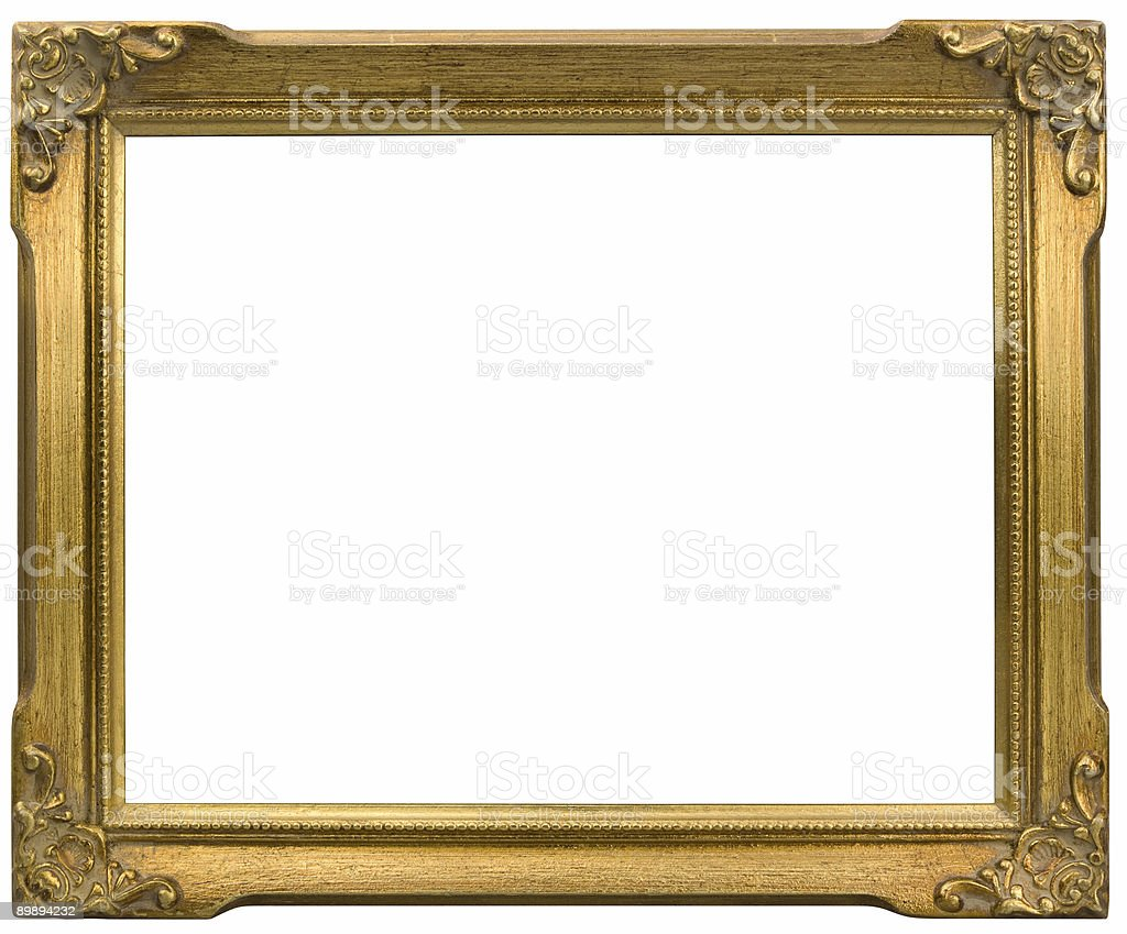 Horizontal Gold Frame Isolated royalty-free stock photo