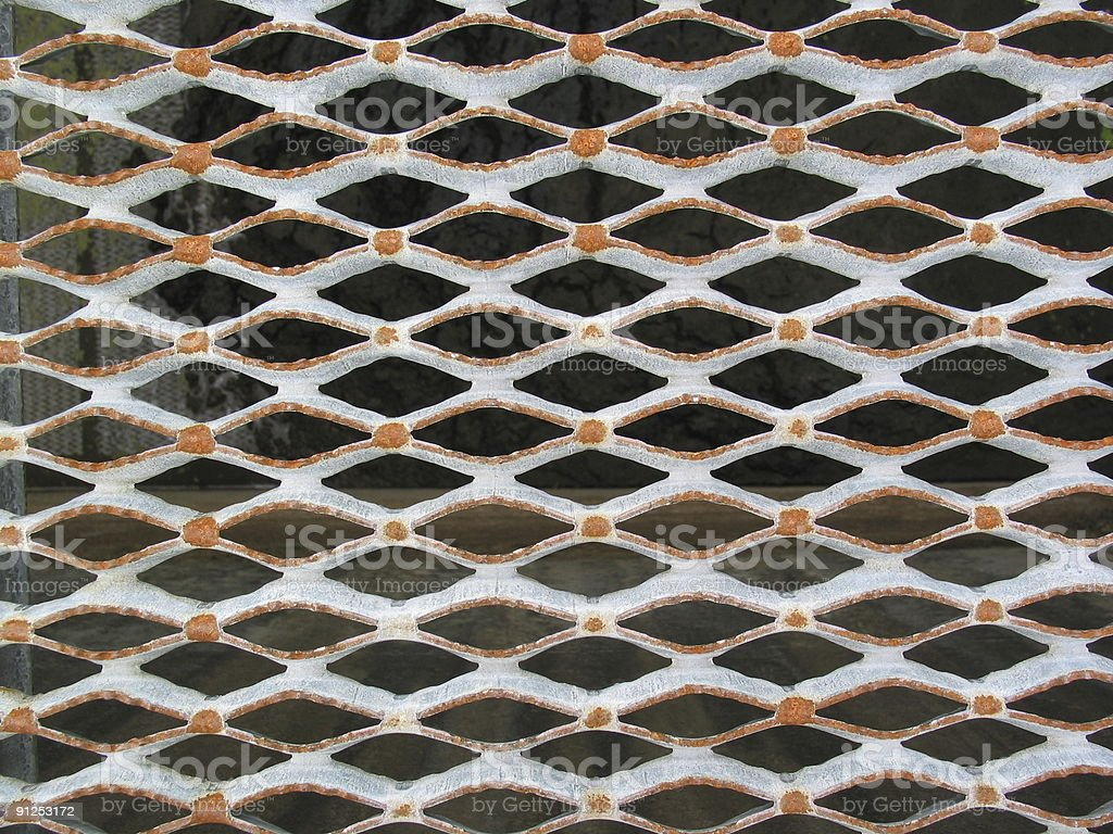 Horizontal Grate stock photo