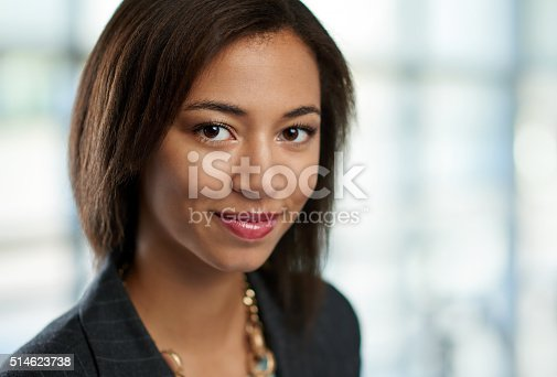 istock Horizontal headshot of an attractive african american business woman shot 514623738
