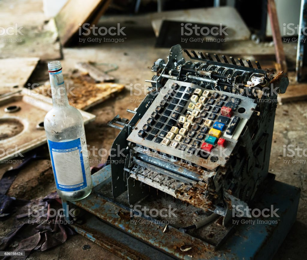 Horizontal industrial crysis in Russia background backdrop stock photo