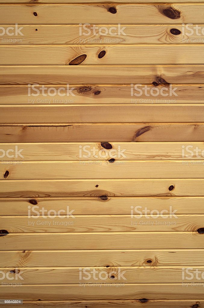 Horizontal Knotty Pine Boards royalty-free stock photo