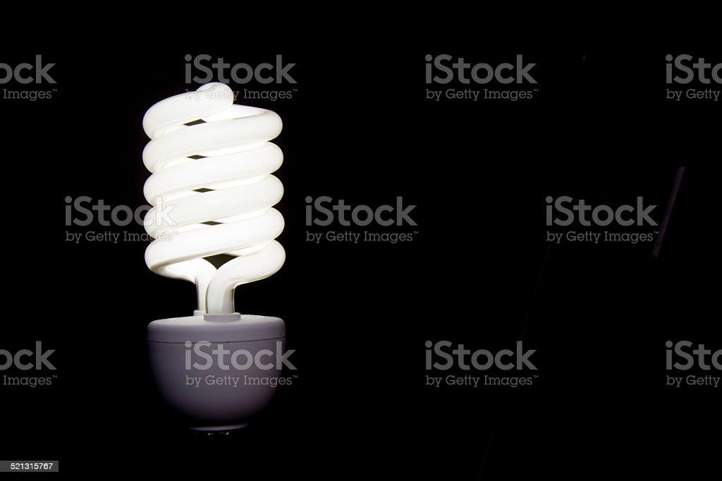 Horizontal light bulb stock photo