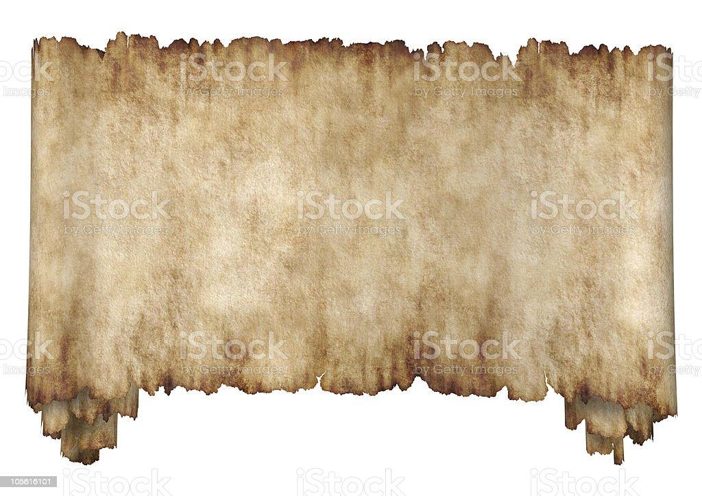 Horizontal manuscript paper background isolated on white royalty-free stock photo