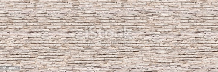 istock horizontal modern slate brick wall for pattern and background 852488592