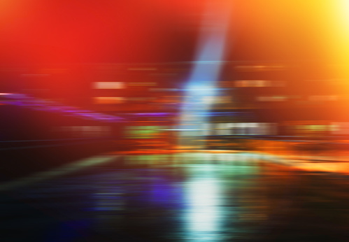 Horizontal Night City Transportation Motion Blur Background Stock Photo Download Image Now Istock