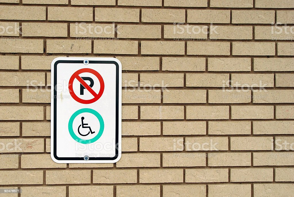 Horizontal - no parking, disabled space royalty-free stock photo