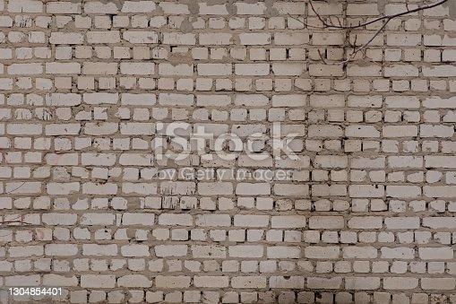 horizontal part of black painted brick wall. High quality photo