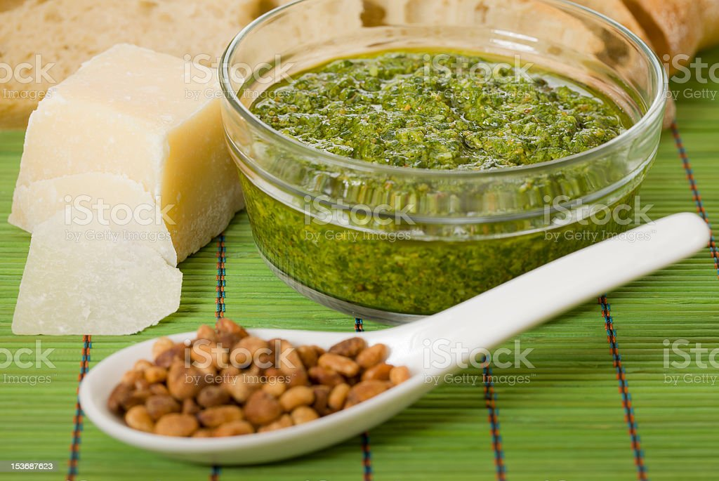 Horizontal pesto royalty-free stock photo