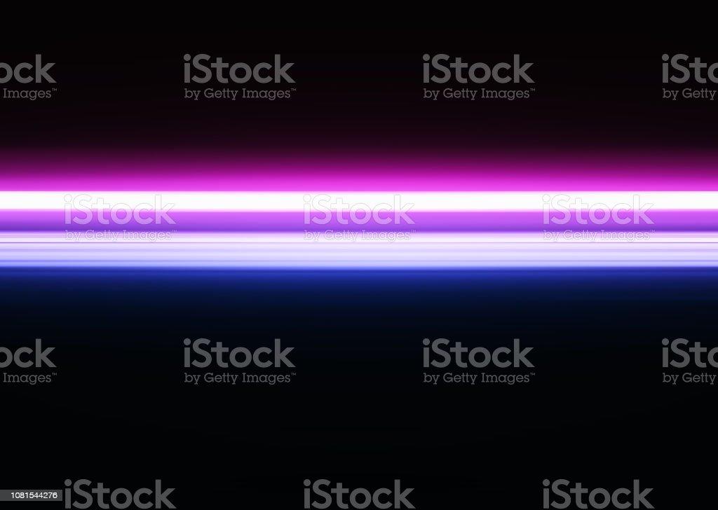 Fundo de ilustração de linha horizontal néon rosa e roxo - foto de acervo