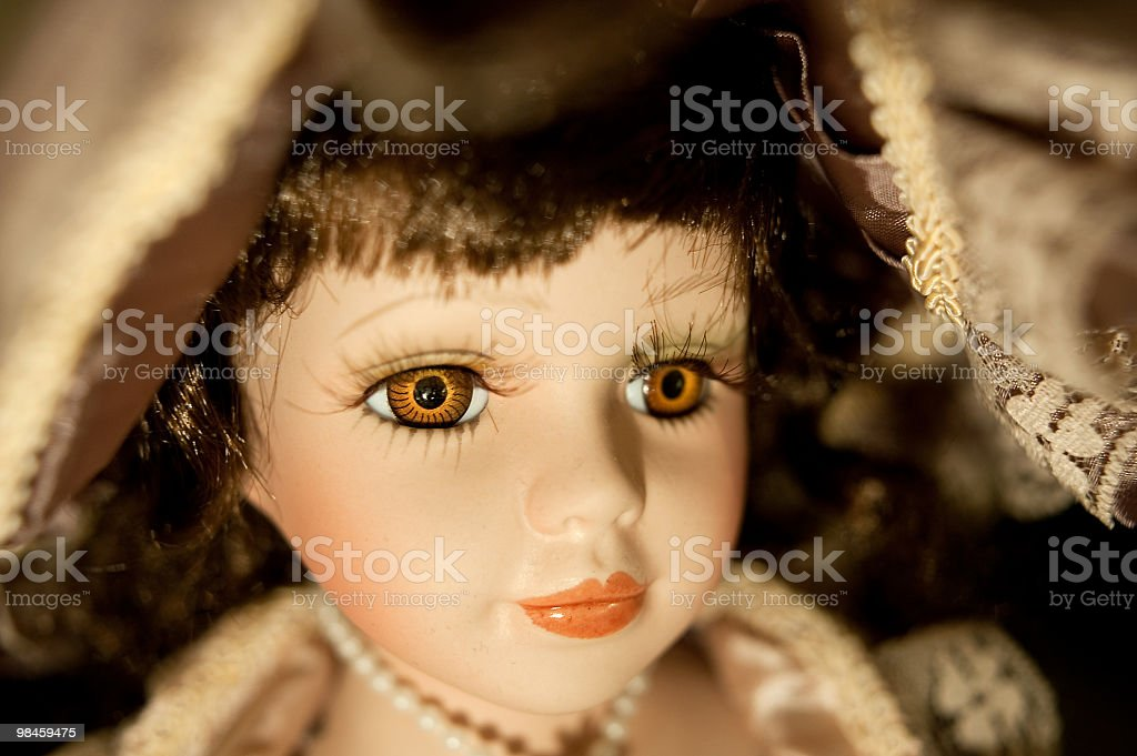 Horizontal Portrait Of A Pottery Doll royalty-free stock photo