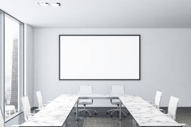 Horizontales Poster im Sitzungssaal aus weißem Marmor – Foto