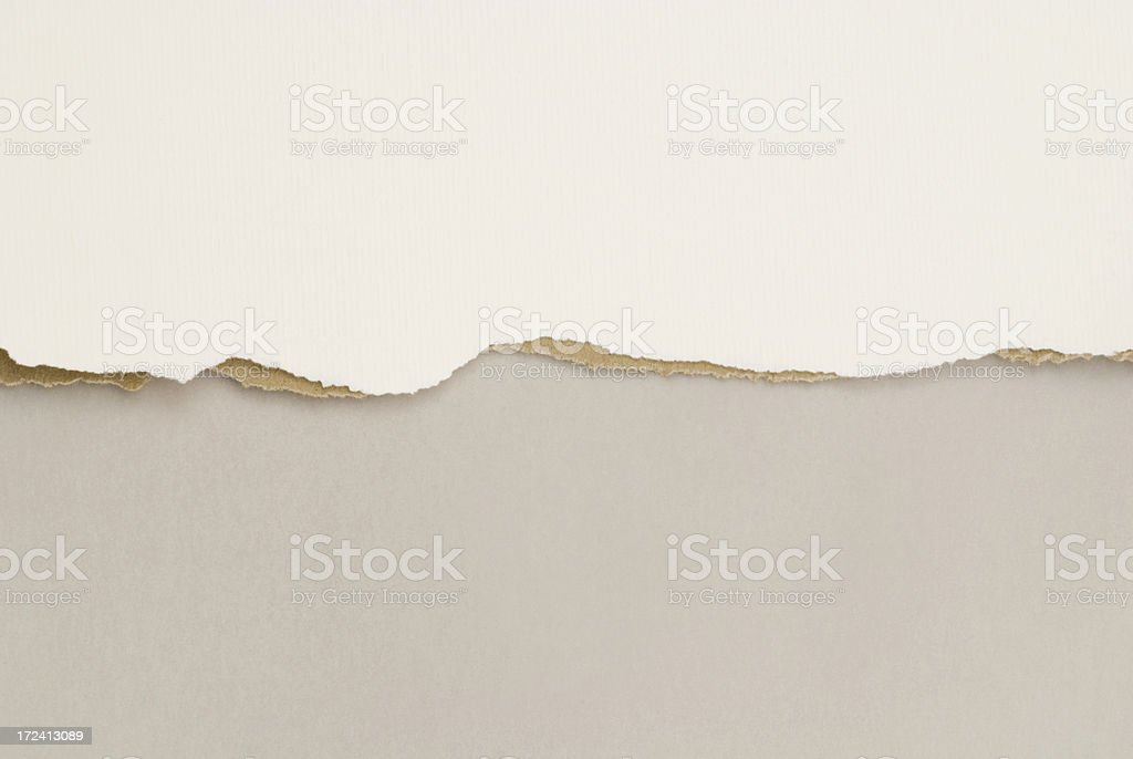 Horizontal ripped background paper stock photo