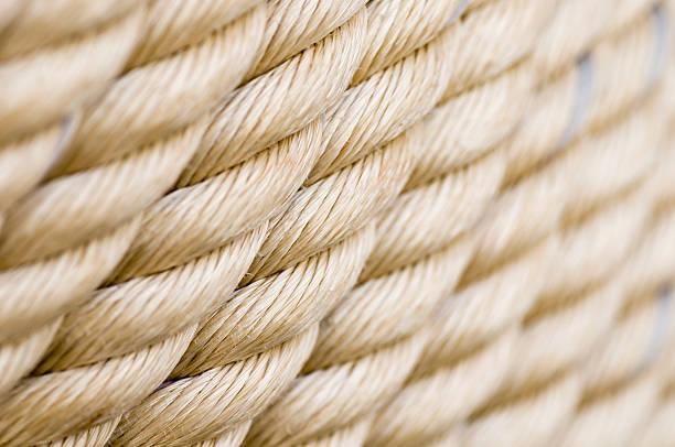 Horizontal rope rows stock photo