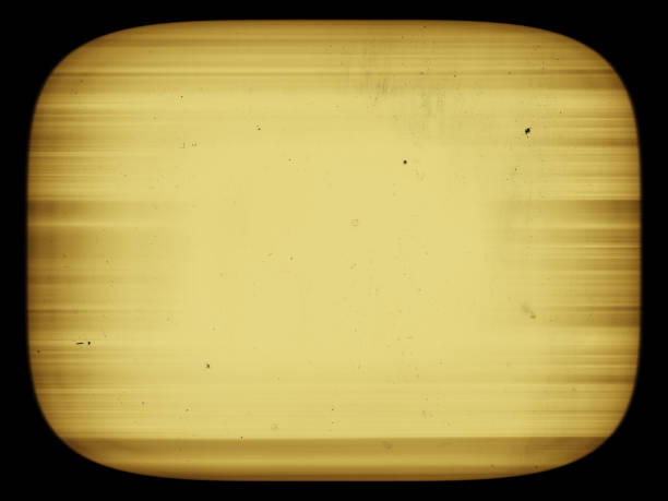 Horizontal sepia retro vintage tv screen with dust abstraction b stock photo