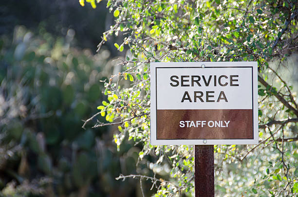 Horizontal Service Area sign stock photo