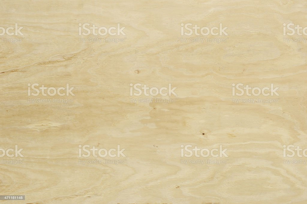 Horizontal Sheet of Natural Colored Plywood stock photo