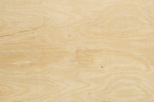 horizontal sheet of natural colored plywood - triplex stockfoto's en -beelden