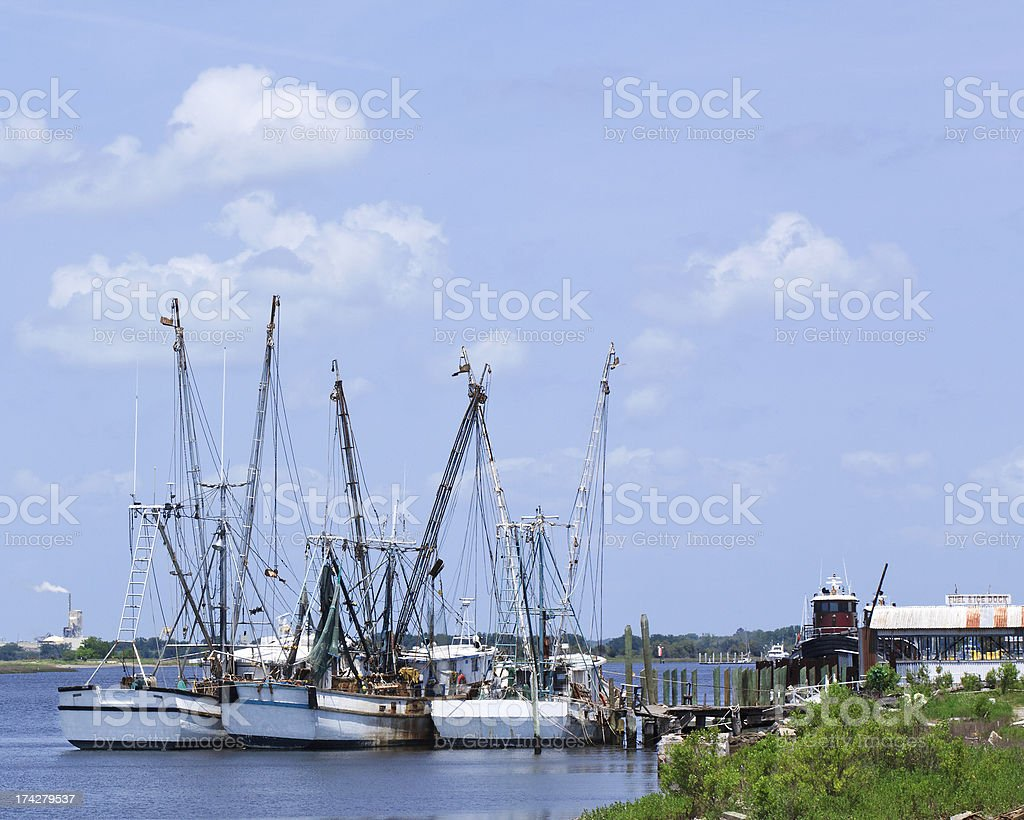 Horizontal Shrimp Boats royalty-free stock photo