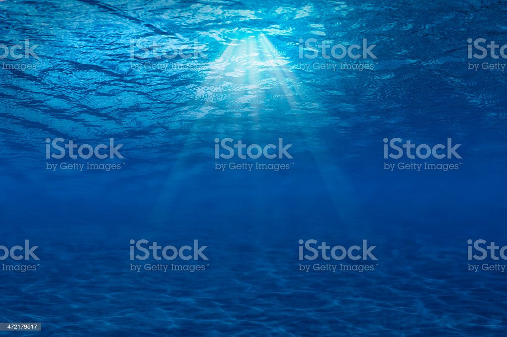 Horizontal Under water abstract stock photo