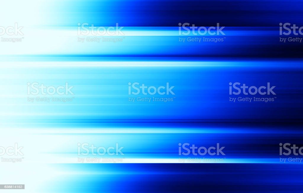 Horizontal vibrant blue blurred panels background stock photo