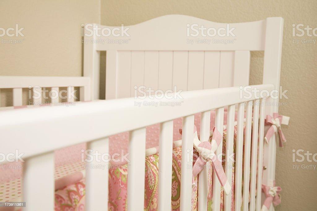 Horizontal View of Baby's Crib royalty-free stock photo