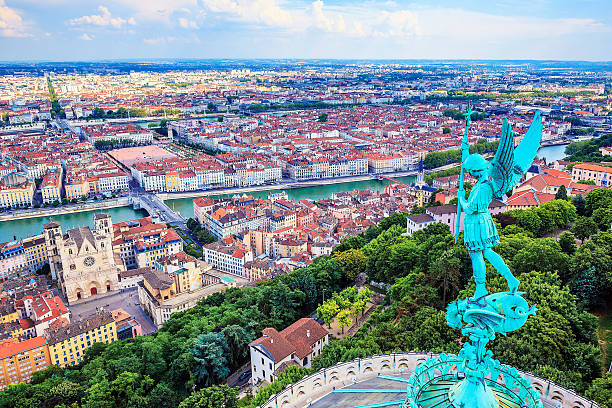 Vue horizontale de Lyon - Photo