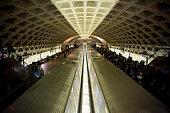 Horizontal View of The Washington Underground With Running Trains