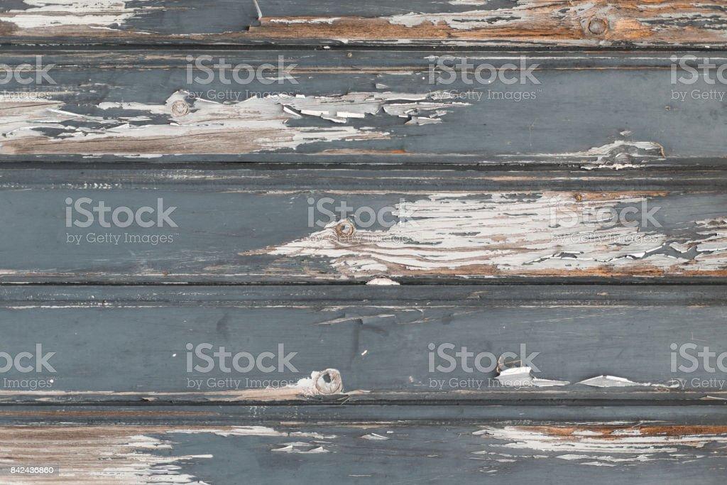 Horizontal weathered gray planks stock photo