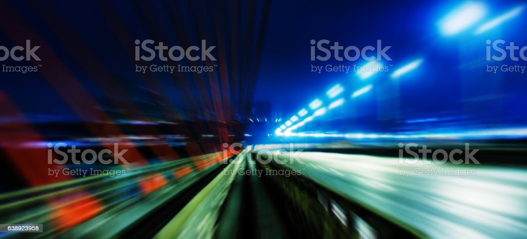 Horizontal wide vivid left aligned higway business motion abstra stock photo