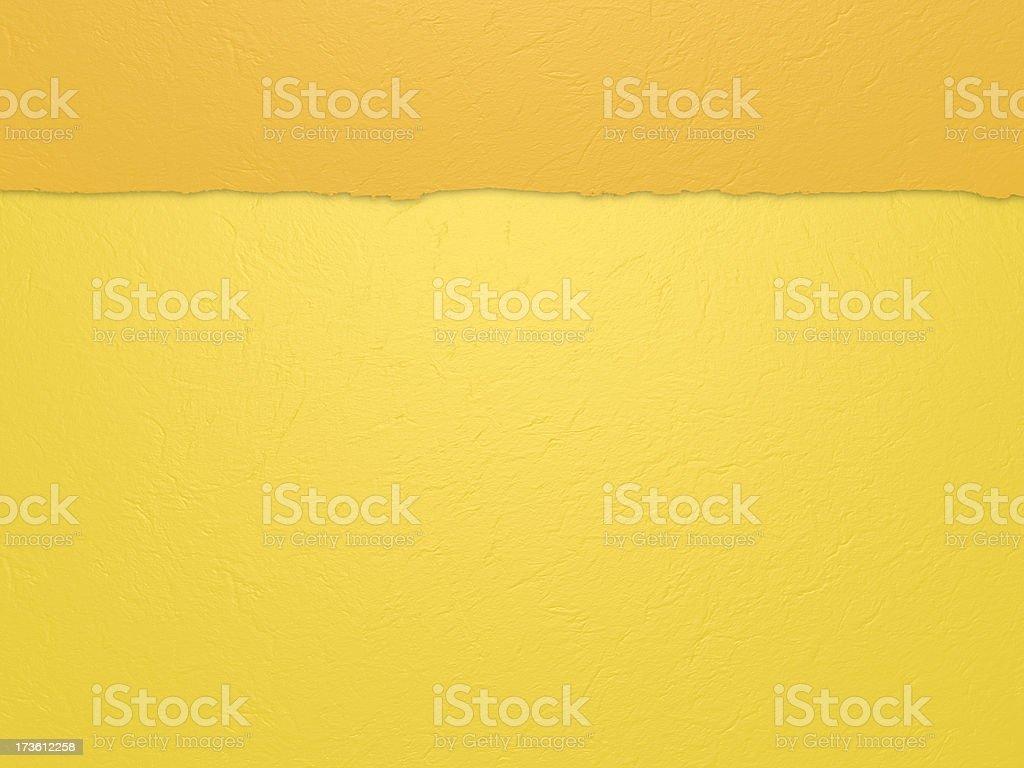 Horizontal yellow paper stock photo