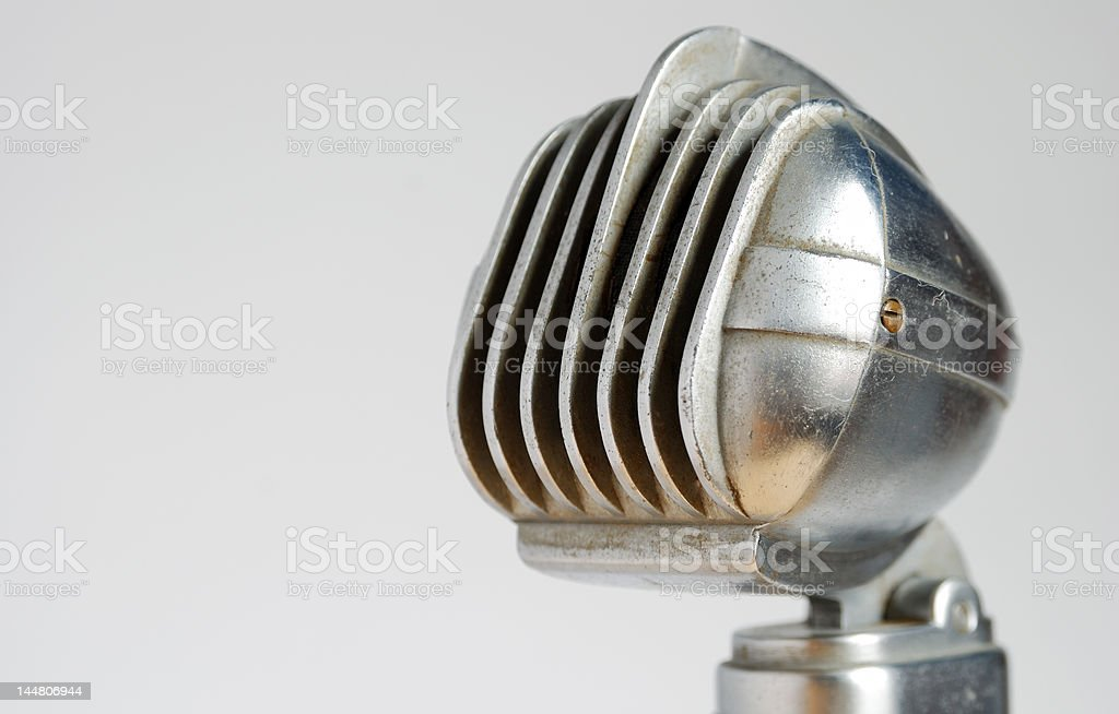 Horizontally framed vintage Turner microphone stock photo