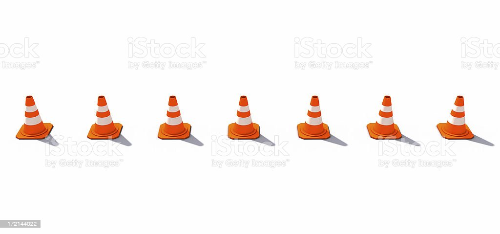 Horizontally lined-up Cones royalty-free stock photo