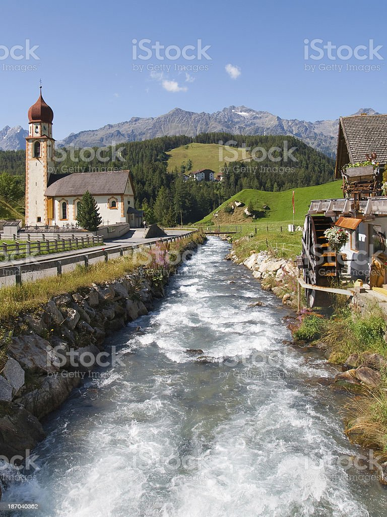 Horlachbach river in Niederthai stock photo