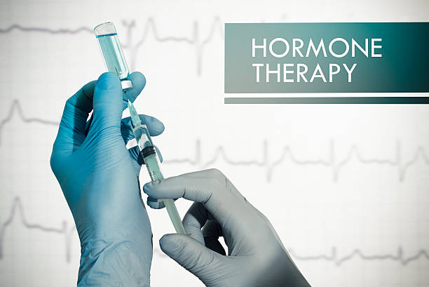 Hormone therapy Hormone therapy. Syringe is filled with injection. Syringe and vaccine hormone stock pictures, royalty-free photos & images