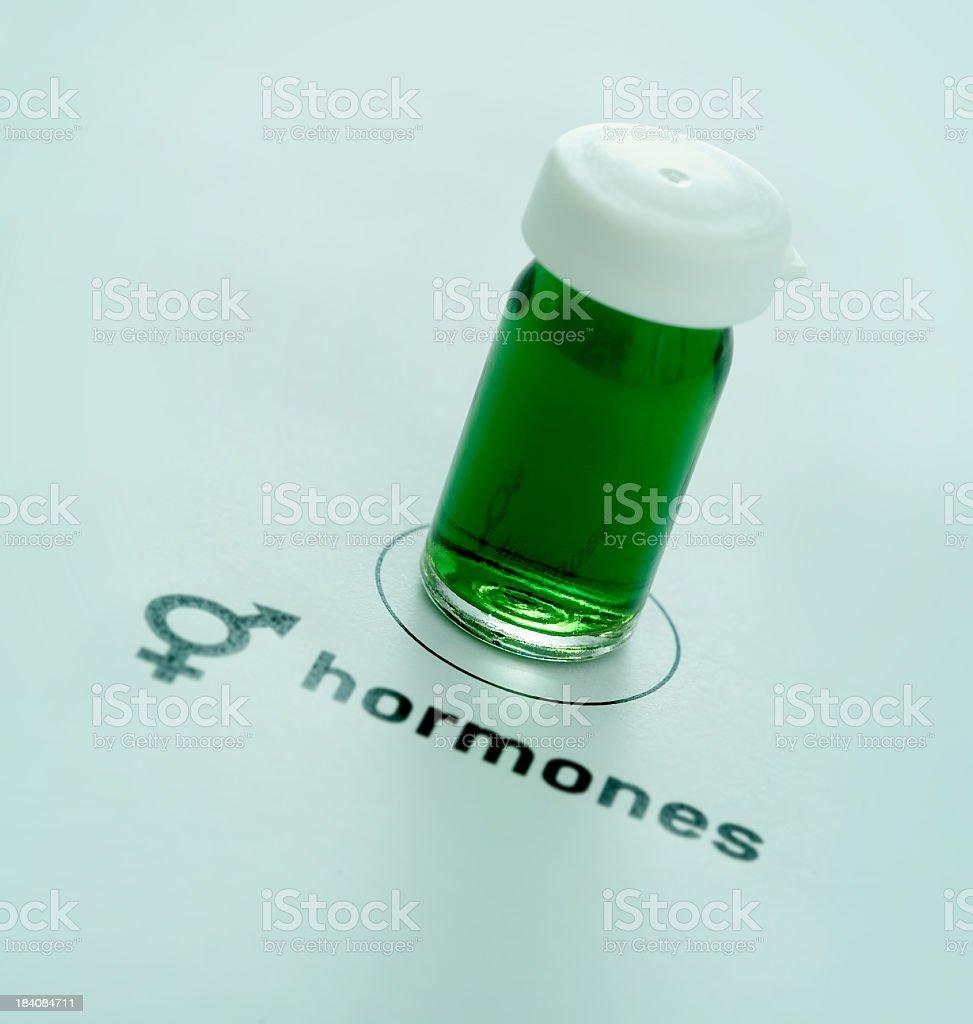 Hormones royalty-free stock photo