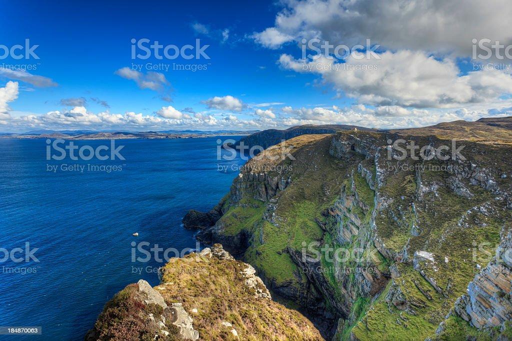 Horn head cliffs in Ireland stock photo