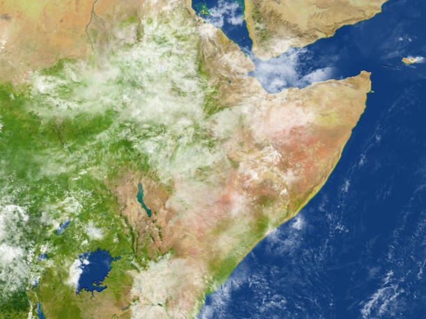 horn of africa on planet earth - horn of africa stock photos and pictures