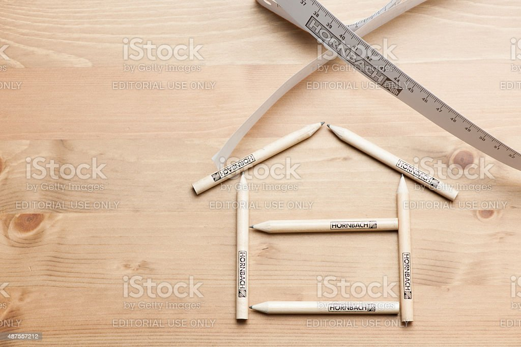 Hornbach Paper Tape Measure and Small size wooden pencil