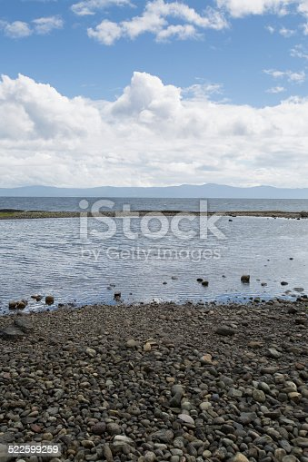 A tide pool on Hornby Island in British Columbia.
