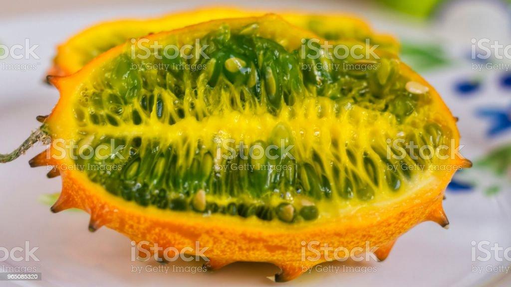 Horned melon zbiór zdjęć royalty-free
