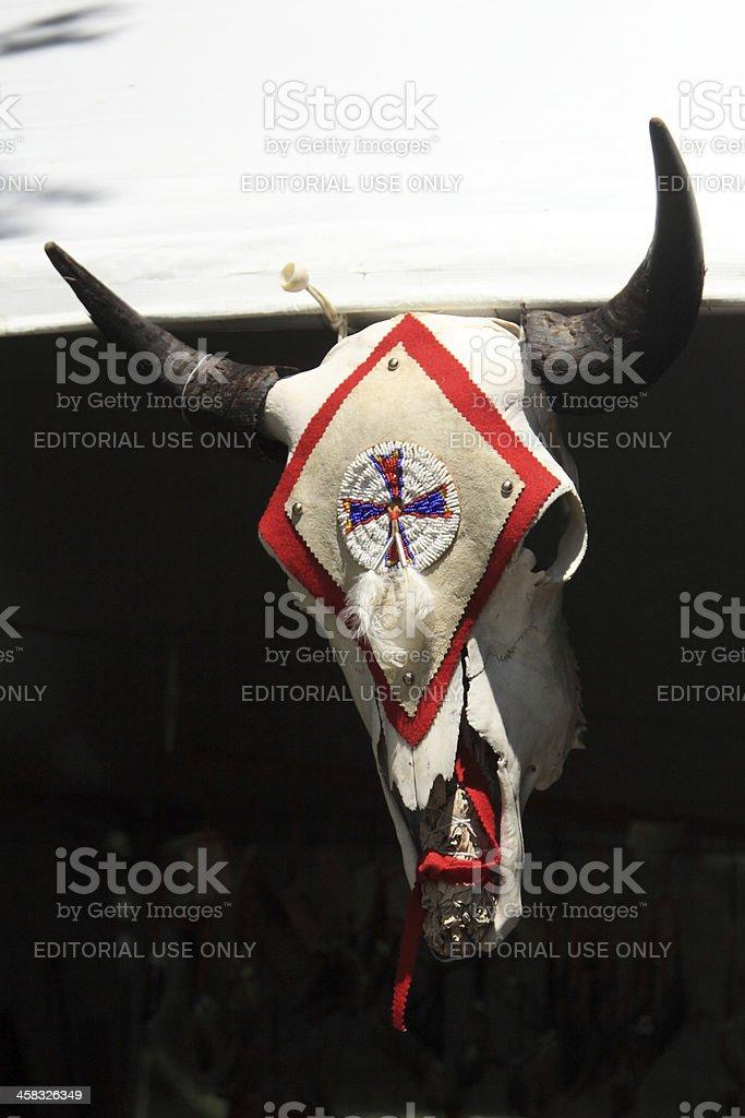 horned skull royalty-free stock photo