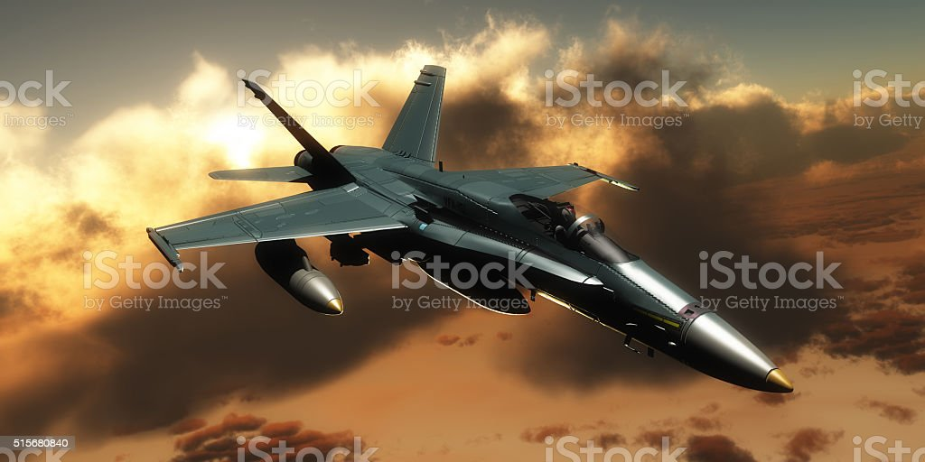 FA-18 Hornet Fighter stock photo