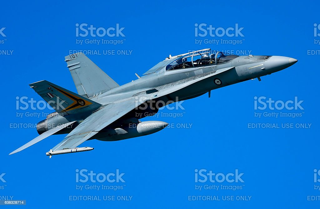 Hornet flyover stock photo