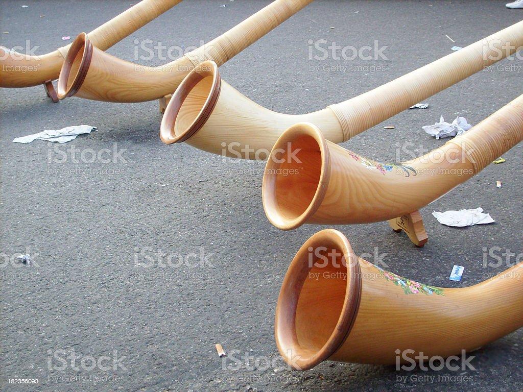 horns - Alphörner stock photo