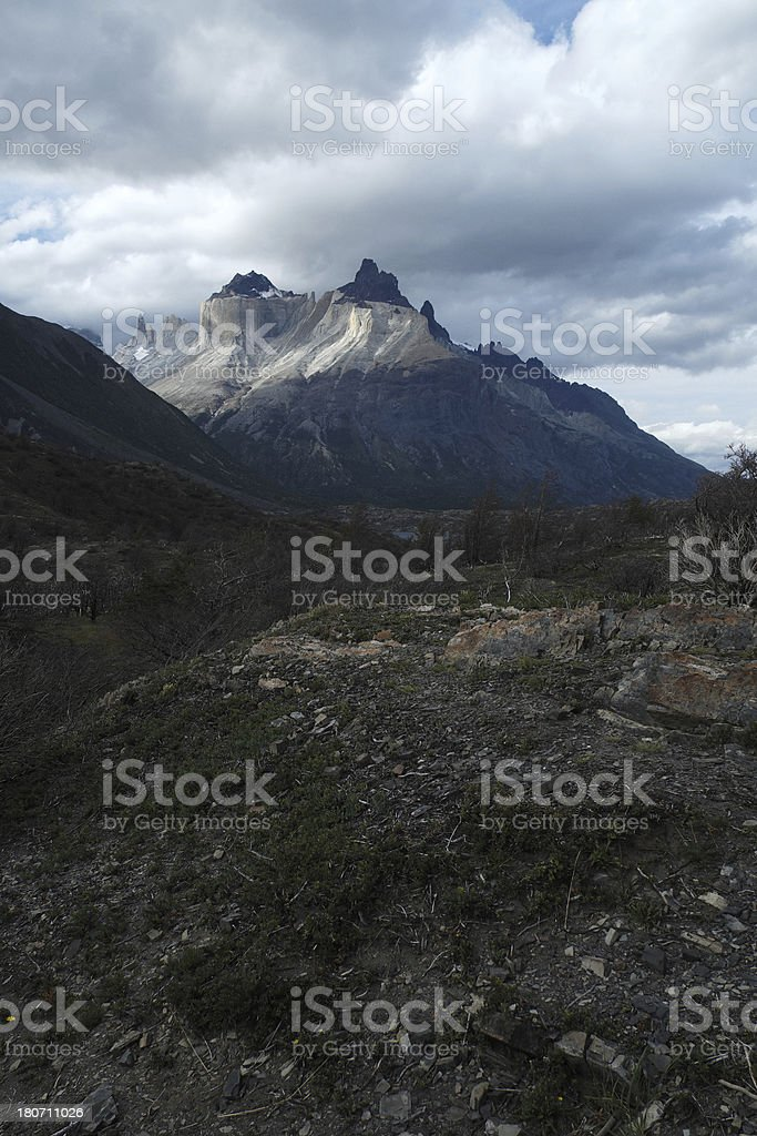 Cuernos del Paine in Patagonia royalty-free stock photo