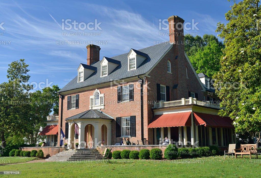 Hornsby House Inn in Historic Yorktown of Virginia stock photo